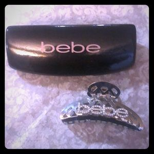 BeBe accessories- hair claw, sunglasses case